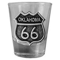 Oklahoma, RT66 Shot Glass