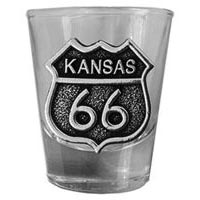 Kansas, RT66 Shot Glass